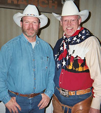 Cowboy Poet Lariat Ron Wilson and Barry Ward.