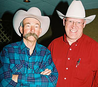 Cowboy Poets Baxter Black and Ron Wilson, the Poet Lariat.