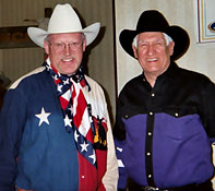 Ron Wilson, Cowboy Poet Lariat, with Les Gilliam, the Oklahoma Balladeer.