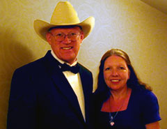 Ron Wilson, Cowboy Poet Lariat, and his wife, Chris Wilson own and operate the Lazy T Ranch in Manhattan, Kansas.